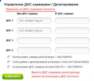 По ДНС серверам хостинга