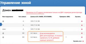 Привязка к хостингу по IP